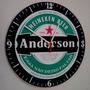 Relógio De Parede Heineken - Personalizado Com Seu Nome