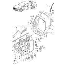 Porta Traseira Esquerda Audi A5 2010 2011 2012 8t8833051d