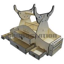 Kit Caixa De Campo Dlx 5 Gavetas Cortada A Laser
