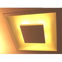 2 X Embutido Quadrado Luz Indireta Iluminação Led 12 W