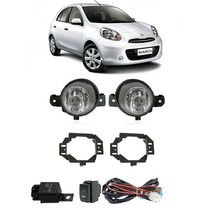 Kit Farol De Milha Nissan March 2011 2012 Bt Modelo Original