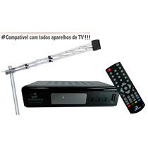Kit Conversor Receptor Tv Digital Usb Hdmi + Antena Externa