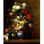 Lindo Vaso Com Flores Na Bancada Pintor Picart Tela Repro