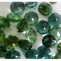 Lote 4 Turmalinas Verde 4 Mm Redonda, Super Oferta!!!