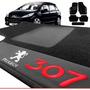 Jogo De Tapete Carpete Automotivo Bordado Peugeot 307
