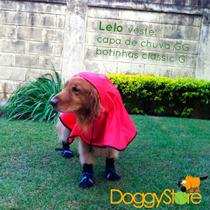 Capa De Chuva Para Cães - Tamanho M