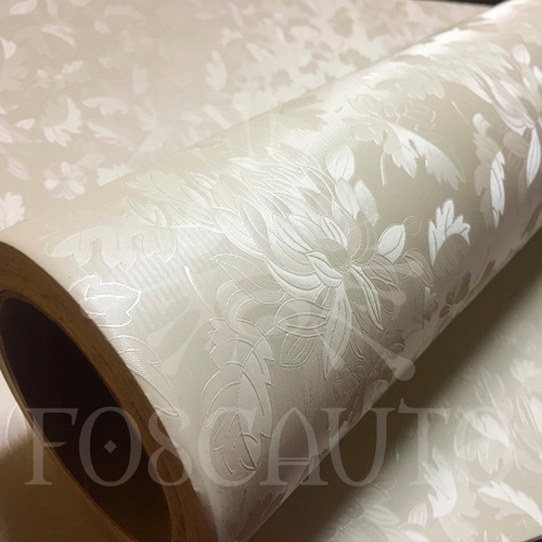 Adesivo decorativo papel parede floral bege 3d 1m x 60cm for Precio papel pared