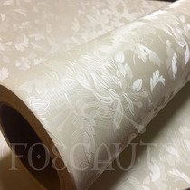 Adesivo Decorativo Pvc Papel Parede Floral Bege Textura 3d
