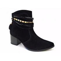 Bota Cano Curto Ankle Boot 16-6502 Via Marte