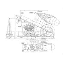 2 Projetos De Quadro Chopper + 2 Projetos De Brinde