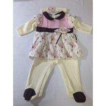 Saída De Maternidade Menina Rosa Elegance