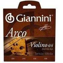 Cordas Para Violino Giannini 4/4 (encordoamento 4 Cordas)