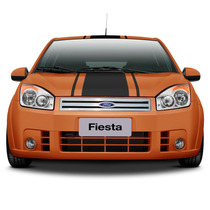 Grade Fiesta + Aplique Traseiro Mala Aço Inox + Frete Grátis