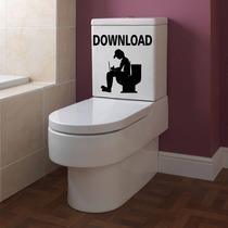 Adesivo Decorativo Parede Banheiro Vaso Sanitário Dowloand