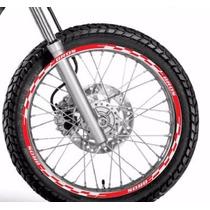 Friso Adesivo Refletivo Roda M1 Moto Honda Bros 125 150 160