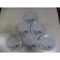 6 Pratos De Sobremesa Porcelana Schmidt