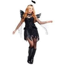Fantasia Feminina Anjo Negro Que Caiu Do Céu - Tamanho Único