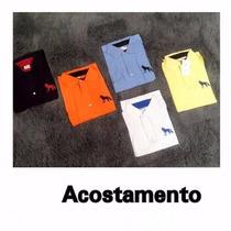 Kit 5 Camisas Gola Polo Acostamento Masculina Frete Grátis
