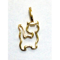 Gato Cat Em Ouro 18k - Figamed - Corrente Vendida A Parte