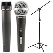 Arcano Microfone A-57 Ou A-58 + Pedestal Com Cachimbo