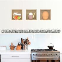 Adesivo Para Parede Objetos De Cozinha 3d - Exclusividade