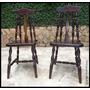 Cadeira Estilo Colonial Ingles - Antiquário Brasil.