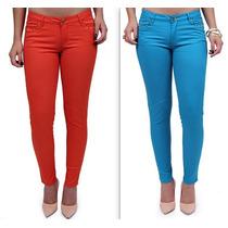 Calça Jeans Feminina Colorida - Levanta Bumbum Nova Coleção