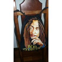 Mochila Bolsa Tipo Saco Estampa Bob Marley Diferente