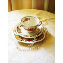 Centenária Xicara De Chá Com Prato De Bolo Ingles Timbrada
