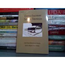 Como Escrever Textos Técnicos José Paulo Morei Frete Grátis
