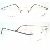 Ray Ban Armação Óculos Grau Titânio Flexivel Leve