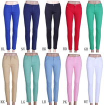 Calça Jeans Feminina Colorida Levanta Bumbum - Frete Grátis