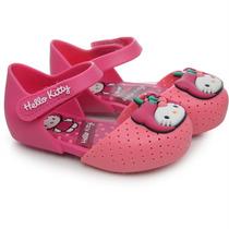 Sandália Infantil Feminina My Fruit Hello Kitty Rosa
