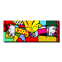 Quadro Decorativo Romero Britto The Hug O Abraço Releitura