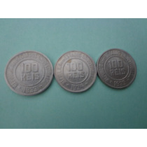 3 Antigas Moedas Cúpro-níquel 100 Réis Anos : 1933-1934-1935