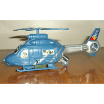 Helicóptero Brinquedo Movido A Corda Gira Hélice Miniatura
