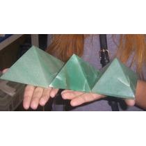 Lote De 3 Piramides De Quartzo Verde * Frete Gratis *