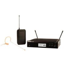 Microfone Auricular S/ Fio Shure Blx14/mx53 Cor Da Pele Novo