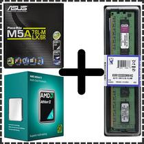 Kit Dual Core Asus M5a78 + Amd X2 270 3.4 Ghz + 8gb Kingston