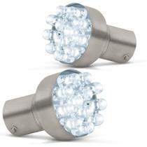 Par Lampada Re 12 Led Super Branca Luz Lanterna Efeito Xenon