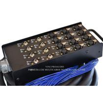 Multicabo Completo C/ Medusa 20 Canais 25 Mts 12 Xlr/8 P10