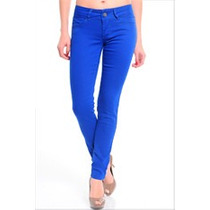 Calça Colorida Com Elastano Feminina Linda Azul Ref: 19221