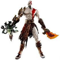 Boneco Kratos God Of War Medusa Head - Original Neca