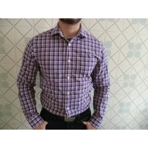 Camisa Masculina Da Gap Xadrez Sem Bolso Sling M/ Longa