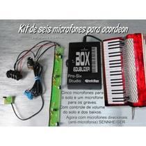 Microfone Para Acordeon Black Bug Com Seis Mics. Sennheiser