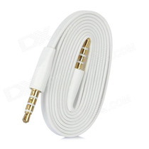 Cabo Auxiliar P2 X P2 3.5mm Banhado Ouro Iphone Galaxy 3 Via