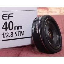 Lente Canon Stm 40mm F/2.8 T3i T5i 60d 70d 6d 5d Mkii Mkiii