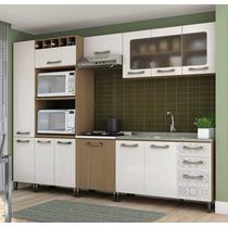 Cozinha Modulada Completa 6 Módulos Balcão Para Cuba Sense