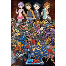 Poster Lbx Colagem Dos Desenhos Animados Anime Rp13834