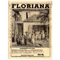 Rótulo De Cachaça, Aguardente, Pinga Floriana - A1c1